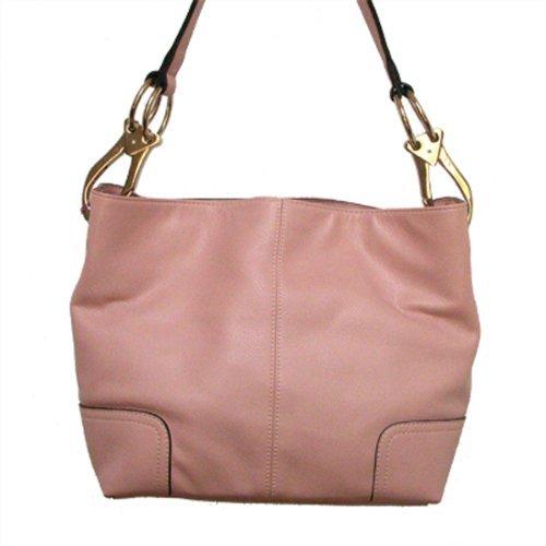 Classic Medium Shoulder Hobo Handbag TOSCA Light Baby Pink Silver Buckles Italy