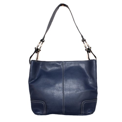 Tosca Classic Medium Shoulder Handbag,Medium,Navy Blue