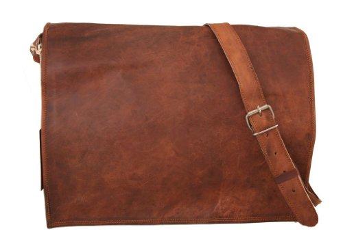 Gusti Leder nature Genuine Leather Satchel Shoulder Business Office Smart Casual College Uni Bag Natural Brown Vintage Unisex U4