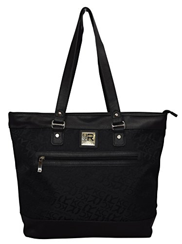 "Kenneth Cole Reaction ""The Copy That"" Women's Business Top Zipper Padded Computer Tote for Computer Up To 16″ -Black"