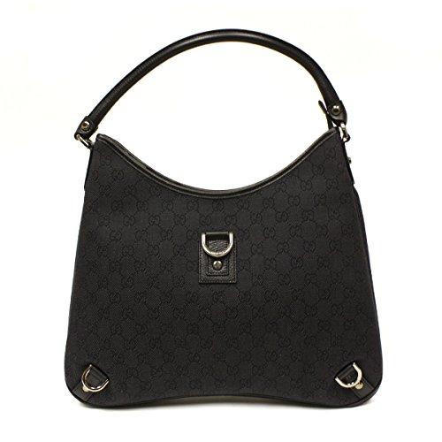 Gucci Large Black Denim D Ring Hobo Bag 268636