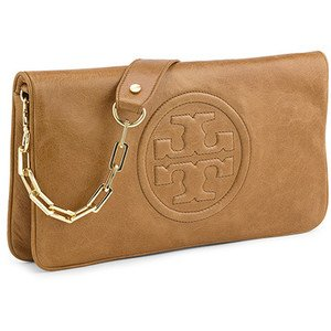 Tory Burch Bombe Reva Clutch Bag- Luggage