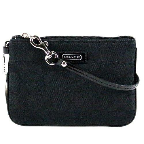 Coach Parker Signature Wristlet Wallet Case for iPhone Bag 49471 Black