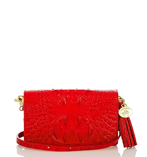 NEW AUTHENTIC BRAHMIN AMELIA SMALL CROSSBODY WALLET BAG (Red Dragon Fruit Melbourne)