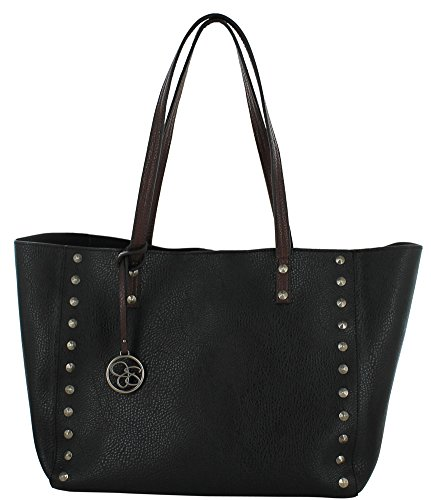 Jessica Simpson Lolita Stud Tote with Removable Pouch (Black)