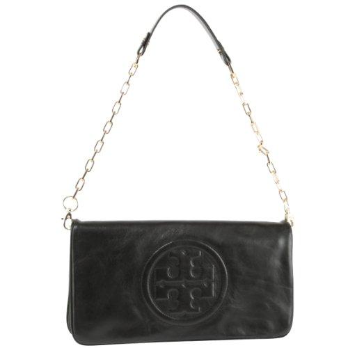 Tory Burch Bombe Reva Clutch Bag- Black