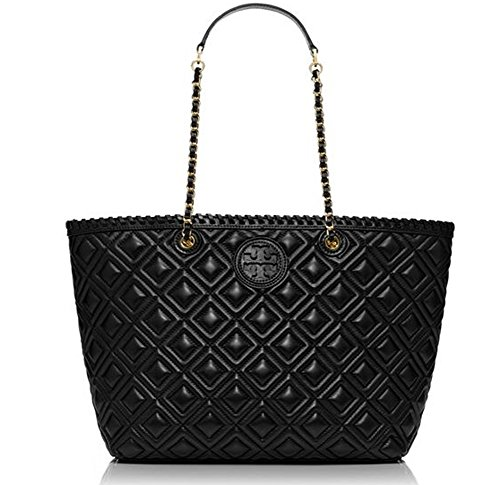 New With Tag Tory Burch marion QUILTED SMALL TOTE Black Handbag Bag Purse Retail Price $535