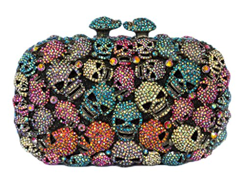 MISSBAGS Exquisite original multicolored evening clutch crystal embellished party handbag glitter prom portable minibag
