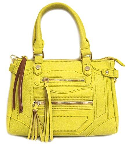 Steve Madden Bmtalia Mini Satchel Crossbody Bag, Lemon
