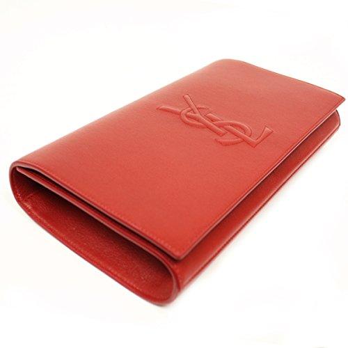 Yves Saint Laurent YSL Belle De Jour Large Red Leather Clutch Bag 361120
