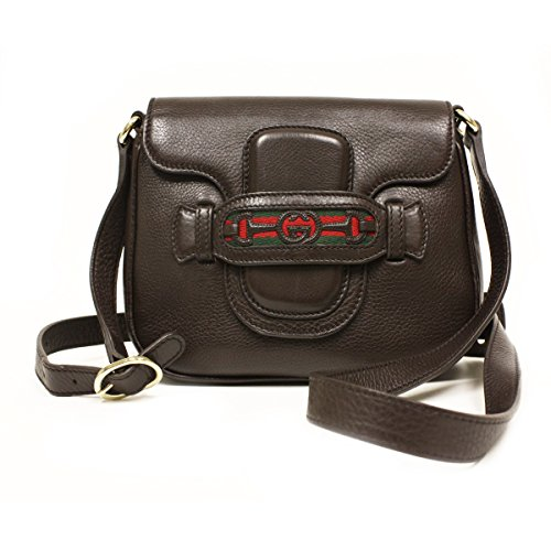 Gucci Dressage Interlocking G Horsebit Shoulder Bag 296854 Coffee