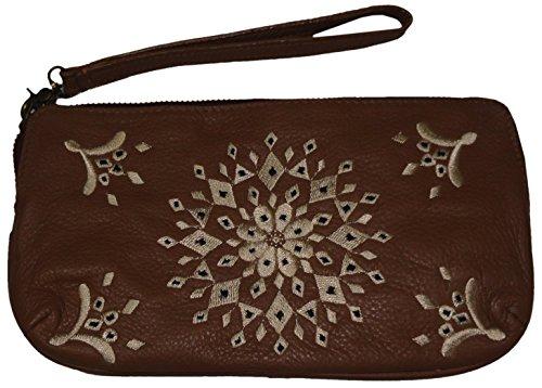 Lucky Women's Casbah Leather Wristlet, Color Cranberry, Size 8.5″X5″