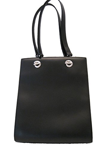 CARTIER® PANTHERE Calf-Skin LEATHER Tote shoulder Bag. BLACK. Made in FRANCE