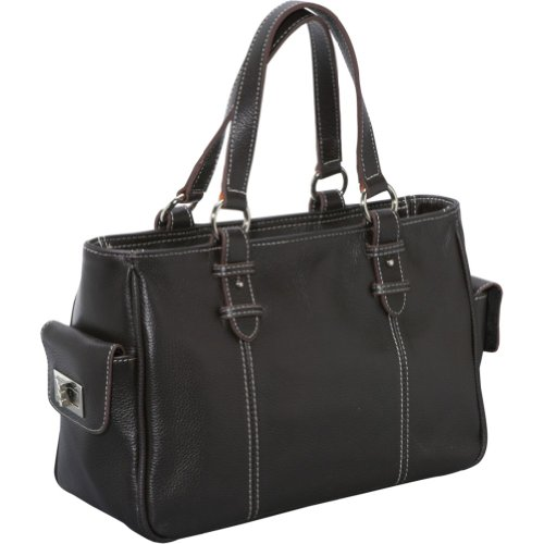 AmeriLeather Sophisticated Leather Satchel