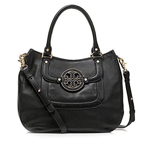 Tory Burch Amanda Womens Black Purse Leather Satchel