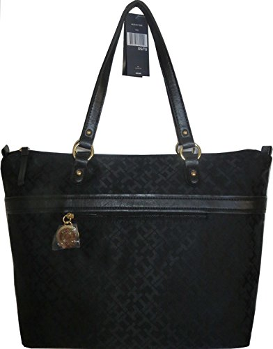 Tommy Hilfiger Handbag Satchel Bag Tote Black XXL
