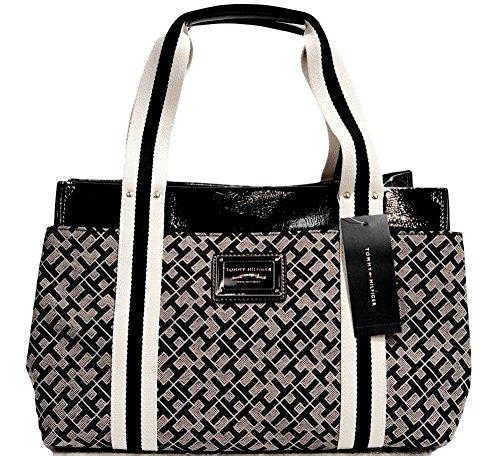 Tommy Hilfiger Medium Black Tote Bag Handbag Purse
