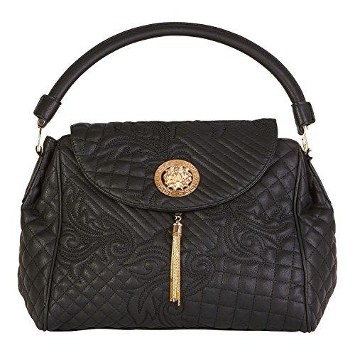 Beaute Bags Talia Embossed Vegan Leather Satchel Women's Shoulder Handbag Luxury Purse Work Evening Bag