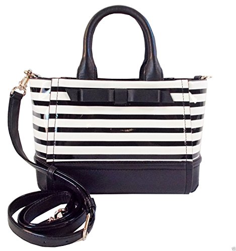 Kate Spade Gigi Chelsea Park Black White Stripe Handbag