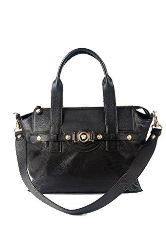 Versace Collection Leather Signature Medusa Shoulder Bag