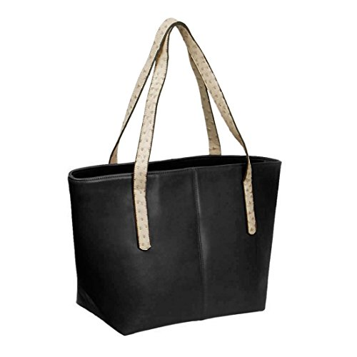 BMC Faux Ostrich Skin Handles Large PU Leather Fashion Shoulder Carry All Tote