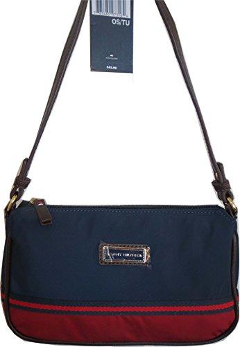Tommy Hilfiger Handbag Hobo Evening Bag Canvas Navy