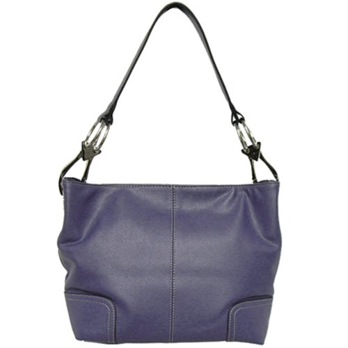 Tosca Classic Medium Shoulder Handbag,Medium,Deep Purple