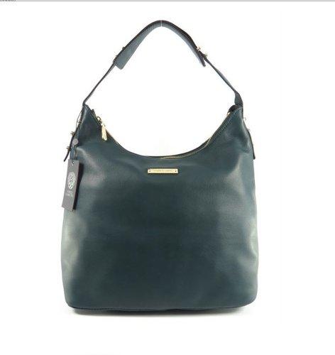 Vince Camuto Kelly Teal Leather Shoulder Bag