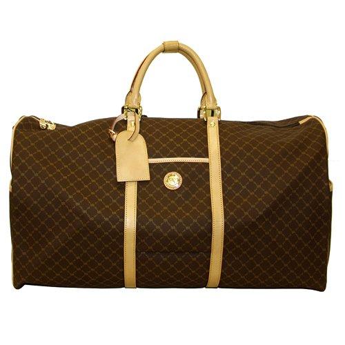 Signature Brown Duffel Traveler by Rioni Designer Handbags & Luggage