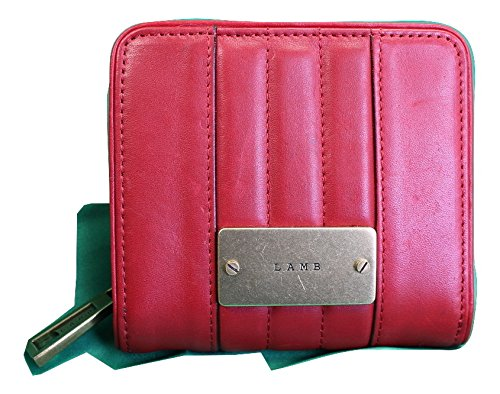 L.A.M.B. Leather Compact Wallet in Rouge Red by Gwen Steffani