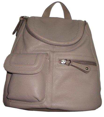 Tignanello Women's/Girls Multi Pocket Backpack Handbag, Stone