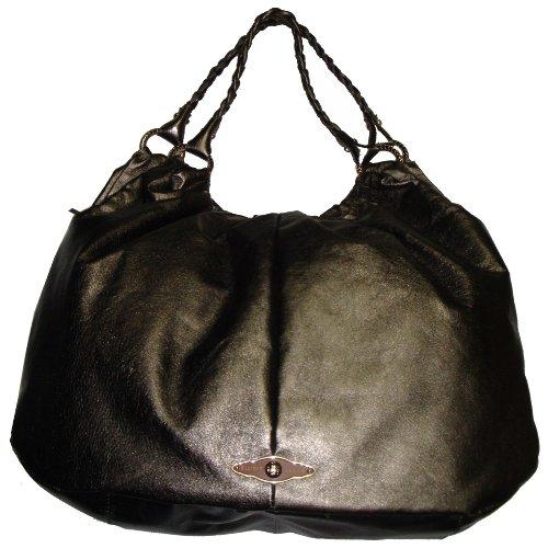 Elliott Lucca Women's Large Astrid Style Handbag, Dark Pewter