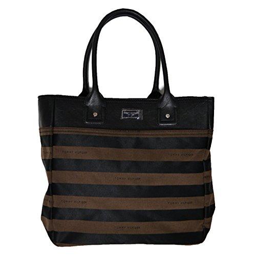 Tommy Hilfiger Large Handbag Brown Striped Purse