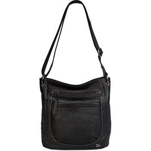 The Sak Black Leather Adjustable Crossbody Handbag