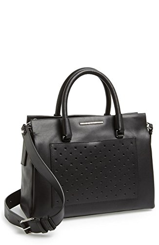 Marc Jacobs Know When to Fold Them Jina Perforated Satchel in Black