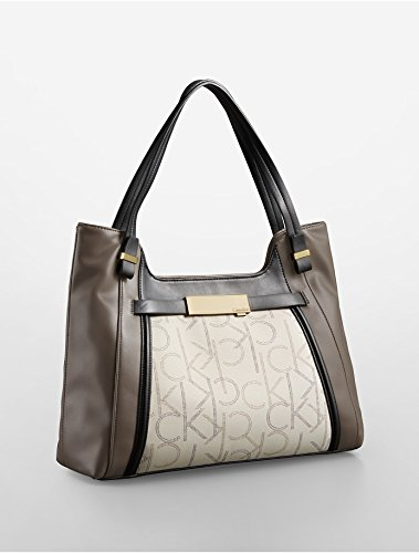 Calvin Klein Addie Scoop City Satchel Handbag Granite