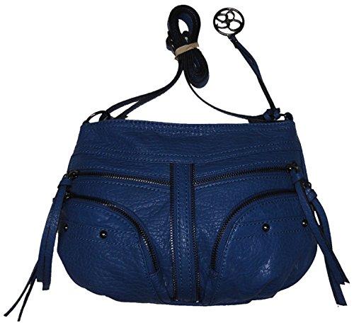 Jessica Simpson Women's Raina Xbody/Crossbody Handbag, Denim Blue