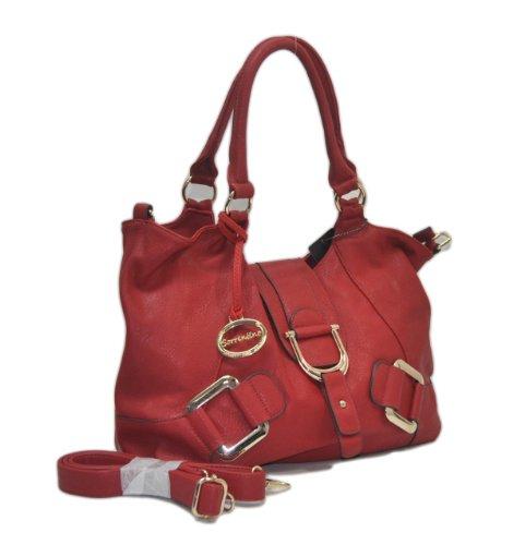 "Sori Collection ""307"" Shoulder Satchel NYC Women's Handbag with Long Strap"