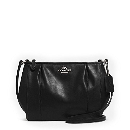 Coach Colette Black Leather Swingpack Cross-body Bag