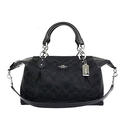 Coach Collette Signature Satchel Shoulder Handbag 33804 – Black