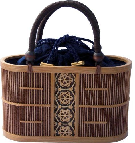 Shizuoka Bamboo Crafts Cooperative – Bamboo Handbag Aoi (Malva) – Made in Japan