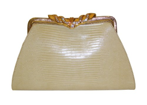 Anita IvGd – Genuine Lizard Skin Clutch Handbag
