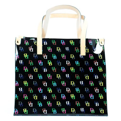Dooney & Bourke Medium Plastic It Shopper Handbag Purse Black Multi