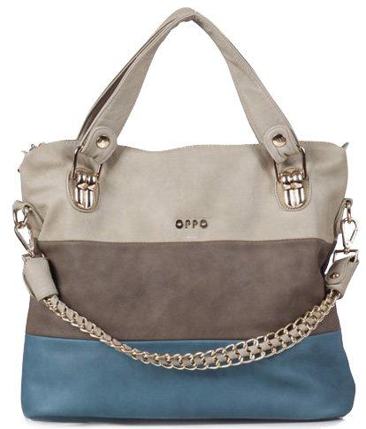 Ilishop Women's Classic Fashion Tote Handbag Shoulder Bag Perfect Large Tote with Shoulder Strap(258,blue)
