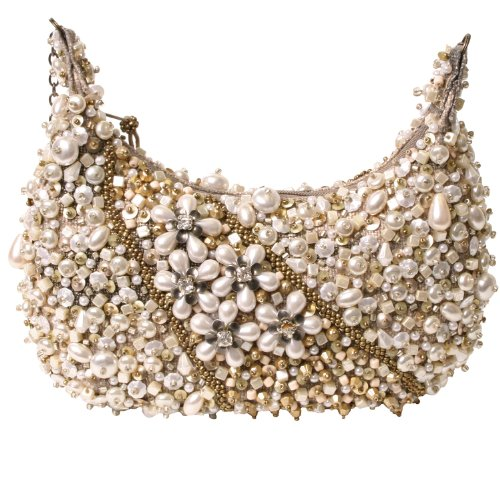 Mary Frances Sea Of Pearls Pearl Mini Handbag
