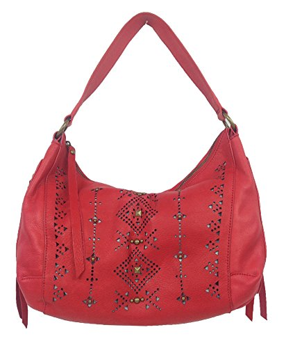 Lucky Brand Newport Leather Hobo Bag, Red