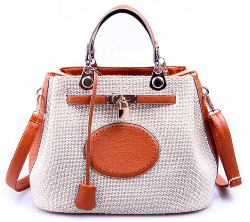 Ilishop Women's Orange New Style Fashion Attractive Tote Handbag