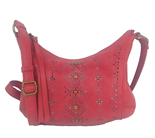Lucky Brand Newport Leather Crossbody Bag, Red