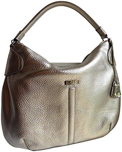 Cole Haan Parker Medium Hobo White Gold Village II Genuine Leather Shoulder Bag