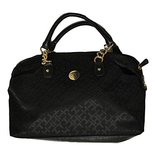 Tommy Hilfiger Bowler Purse Handbag Black